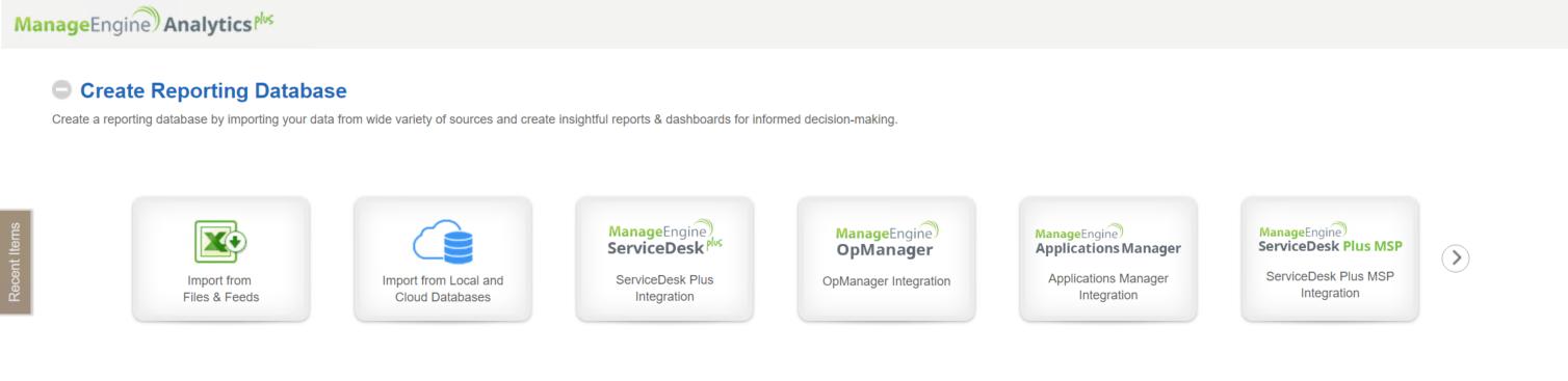 Create reporting database